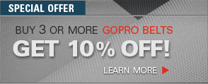 Get 10% Off When You Buy 3 or More GoPro Belts.